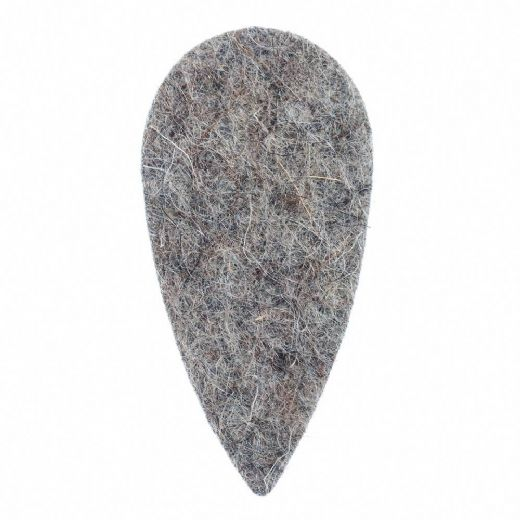 Felt Tones Teardrop Grey Wool Felt 1 Pick
